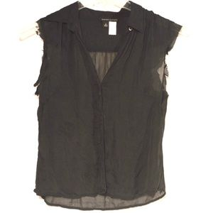 Upcycle Banana Republic Vest Sheer Grunge Top Silk